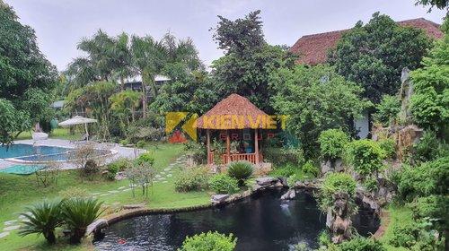 Thi công sàn gỗ, vỉ đá, trần nan sóng tại Khu nhà vườn Láng - Hòa Lạc