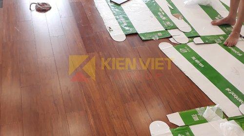 Thi công sàn tre ép khối Bamboo Ali tại Chung cư Mipec Riverside – Hà Nội