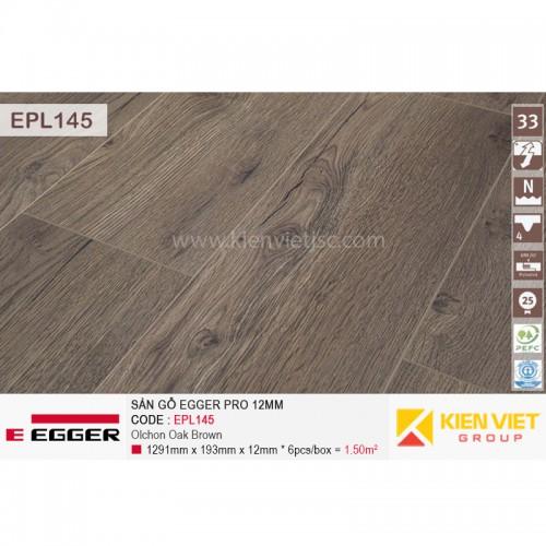 Sàn gỗ Egger Pro EPL145 Olchon Oka Brown | 12mm