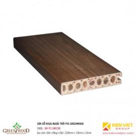 Sàn gỗ ngoài trời PVC Greenwood | GW-PC150D25B