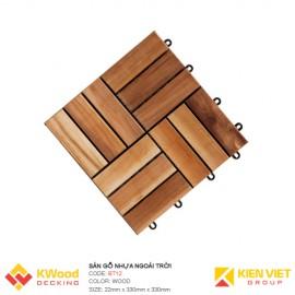 Vỉ gỗ ban công gỗ tràm bông vàng 30x30x22cm 12 nan