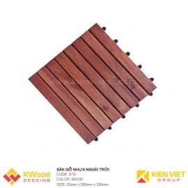 Vỉ gỗ nhựa ban công bông tràm 30x30x22cm 8 nan
