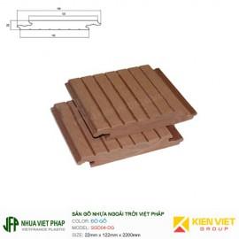 Sàn gỗ nhựa ngoài trời Việt Pháp SGD04 | 22x140mm