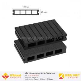 Sàn gỗ bể bơi ngoài trời Kwood KW140x25-4 Black