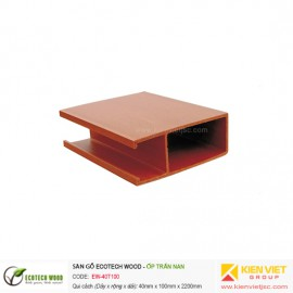 Trang trí nội thất ốp trần nan Ecotech Wood | EW-40T100
