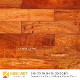 Sàn gỗ tự nhiên gõ đỏ 900x15mm