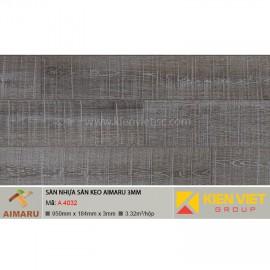 Sàn nhựa dán keo vân gỗ Aimaru A-4032 | 3mm