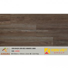 Sàn nhựa dán keo vân gỗ Aimaru A-4034 | 3mm