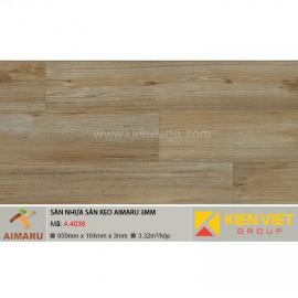 Sàn nhựa dán keo vân gỗ Aimaru A-4038 | 3mm