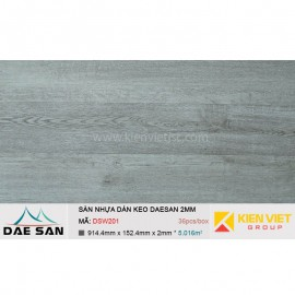 Sàn nhựa dán keo phủ sẵn DAESAN DSW201 | 2mm
