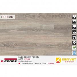 Sàn gỗ Egger Pro EPL036 Bardolino Oak Grey | 8mm