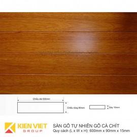Sàn gỗ tự nhiên Cà chít 600x15mm
