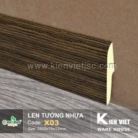 Len tường nhựa X03