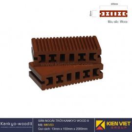 sàn gỗ ngoà trời Kankyo-wood II | MKV01 Wood