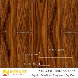 Sàn gỗ tự nhiên Teak 600x15mm
