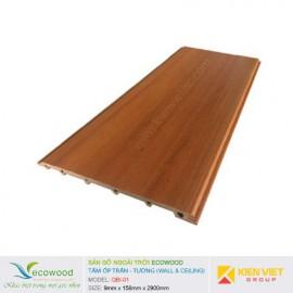 Tấm ốp tường trần EcoWood QBI-01 | 9x158mm