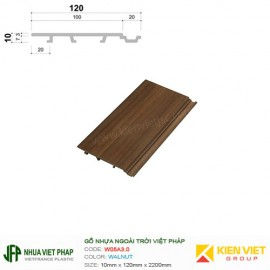 Gỗ nhựa Việt Pháp Ecoplast W05A3.0 | Walnut 10x120mm