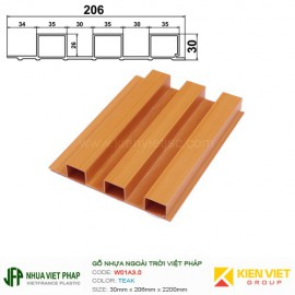 Gỗ nhựa Việt Pháp Ecoplast W01A3.0 | Teak 30x206mm