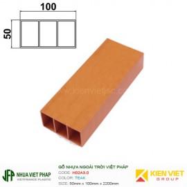 Gỗ nhựa Việt Pháp Ecoplast H02A3.0   Teak 50x100mm