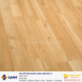 Sàn gỗ Janmi AC21 Acacia Strip | 12mm bản to