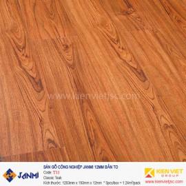Sàn gỗ Janmi T11 Classic Teak | 12mm bản to