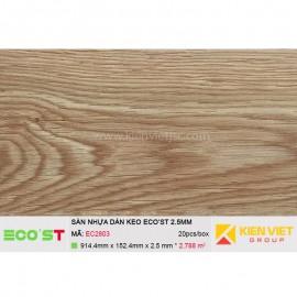 Sàn nhựa dán keo Ecost EC2803   2,5mm