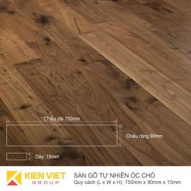Sàn gỗ tự nhiên óc chó 750x15mm
