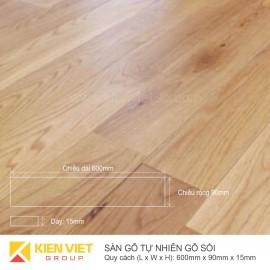 Sàn gỗ tự nhiên gỗ Sồi 600x15mm