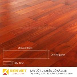Sàn gỗ tự nhiên Căm xe 450x15mm