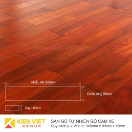 Sàn gỗ tự nhiên Căm xe 900x15mm