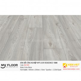 Sàn gỗ Myfloor Residence ML1009 Makro Oak White | 10mm