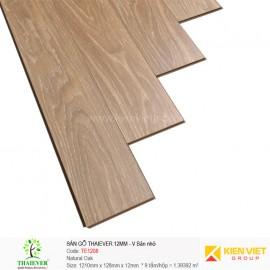 Sàn gỗ công nghiệp Thaiever TE1208 Natural Oak | 12mm bản nhỏ