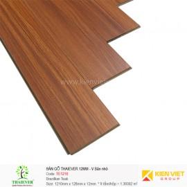Sàn gỗ công nghiệp Thaiever TE1216 Brazillian Teak | 12mm bản nhỏ