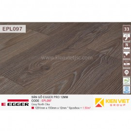 Sàn gỗ Egger Pro EPL097 Grey North Oka | 12mm
