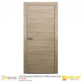 Cửa gỗ nhựa Composite phẳng Sevadoor SV-P001