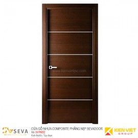 Cửa gỗ nhựa Composite phẳng nẹp Sevadoor SV-PN002