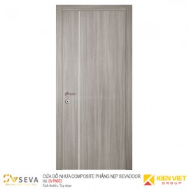 Cửa gỗ nhựa Composite phẳng nẹp Sevadoor SV-PN003