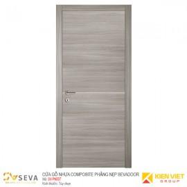 Cửa gỗ nhựa Composite phẳng nẹp Sevadoor SV-PN007