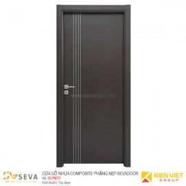Cửa gỗ nhựa Composite phẳng nẹp Sevadoor SV-PN011