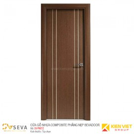 Cửa gỗ nhựa Composite phẳng nẹp Sevadoor SV-PN012