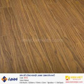 Sàn gỗ Janmi W15 Yukon Walnut 12mm bản nhỏ