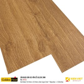 Sàn nhựa dán keo vân gỗ Golden DP203 | 2mm