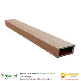 Thanh định hình dày 40x30mm Biowood S4SO04030