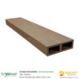 Thanh định hình dày 65x25mm Biowood S4SO06525