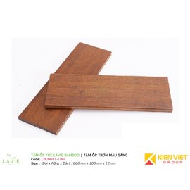 Tấm ốp tre Lavie Bamboo tấm ốp trơn màu sáng LBCG031-186L