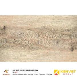 Sàn nhựa dán keo vân gỗ Aimaru A21 | 2mm