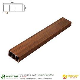 Thanh hộp gỗ nhựa phủ phim Việt Pháp Gplast H01F001 | 50x150mm