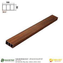 Thanh hộp gỗ nhựa phủ phim Việt Pháp Gplast H02F001 | 50x100mm