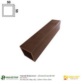 Thanh hộp gỗ nhựa phủ phim Việt Pháp Gplast H04F001 | 50x50mm