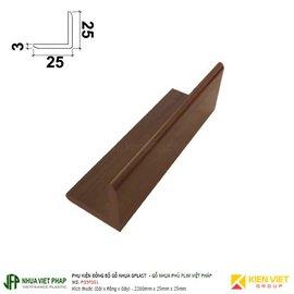 Thanh nẹp gỗ nhựa Gplast phủ phim Việt Pháp Gplast P09F001| 25x25mm